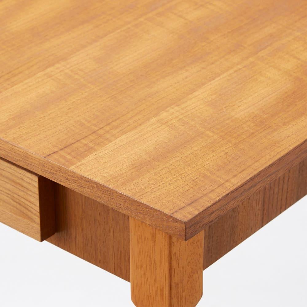 北欧ヴィンテージ風 チーク材 リビング収納 コンソールデスク(PCデスク) なめらかなチーク材の木目がお部屋に美しくなじみます。