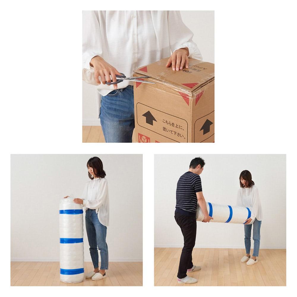 シャビーシックフレンチベッド ポケットコイルマットレス付き コンパクトな包装を実現することにより、入り口が狭いお宅でもラクラク搬入が可能です。