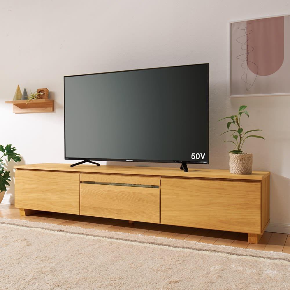 オーク天然木北欧風 テレビ台 幅120cm コーディネート例 ※写真はテレビ台幅180cmタイプです。
