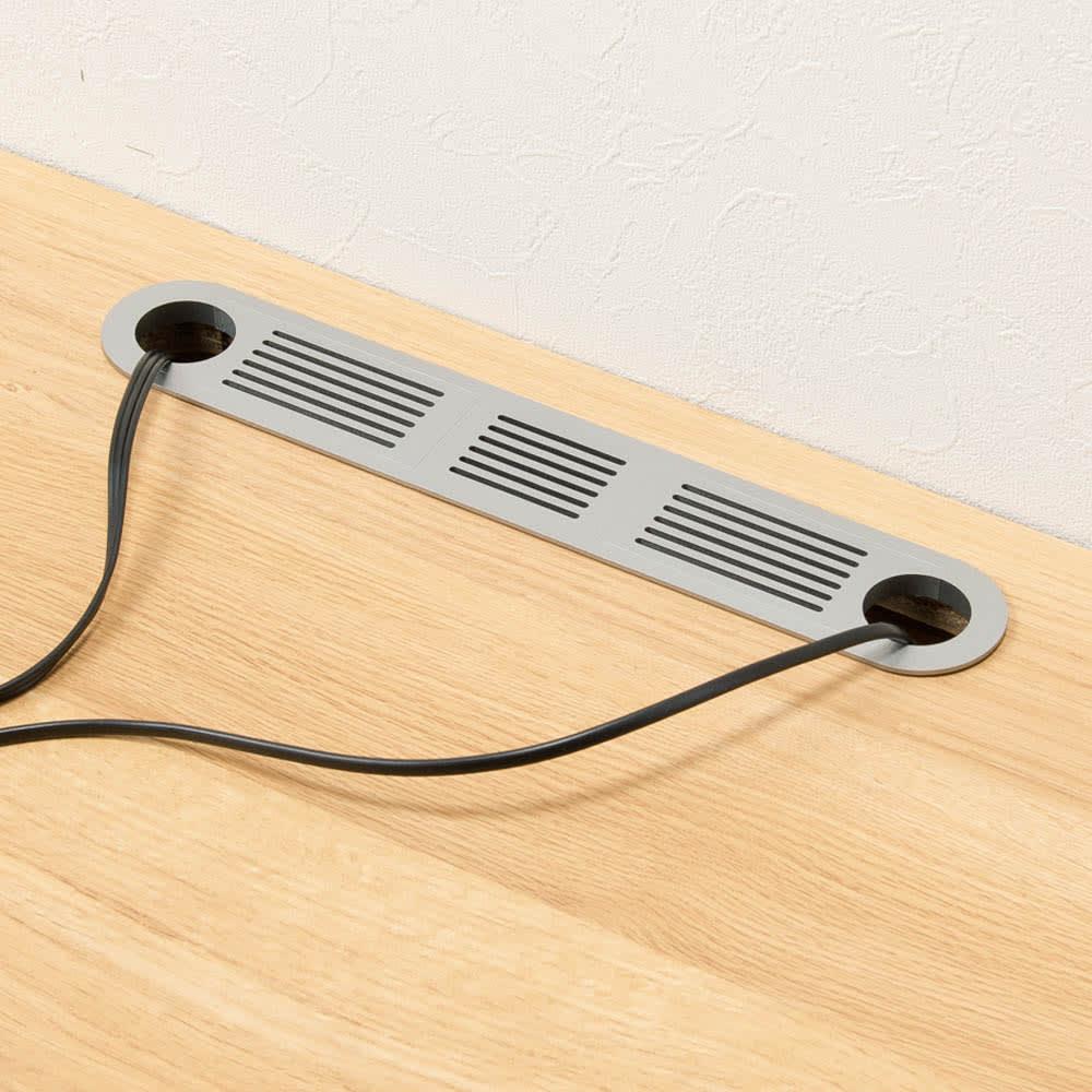 住宅事情を考えた天然木調コーナーテレビ台 右コーナー用 幅123.5cm 天板の奥から配線できるコード穴付き。