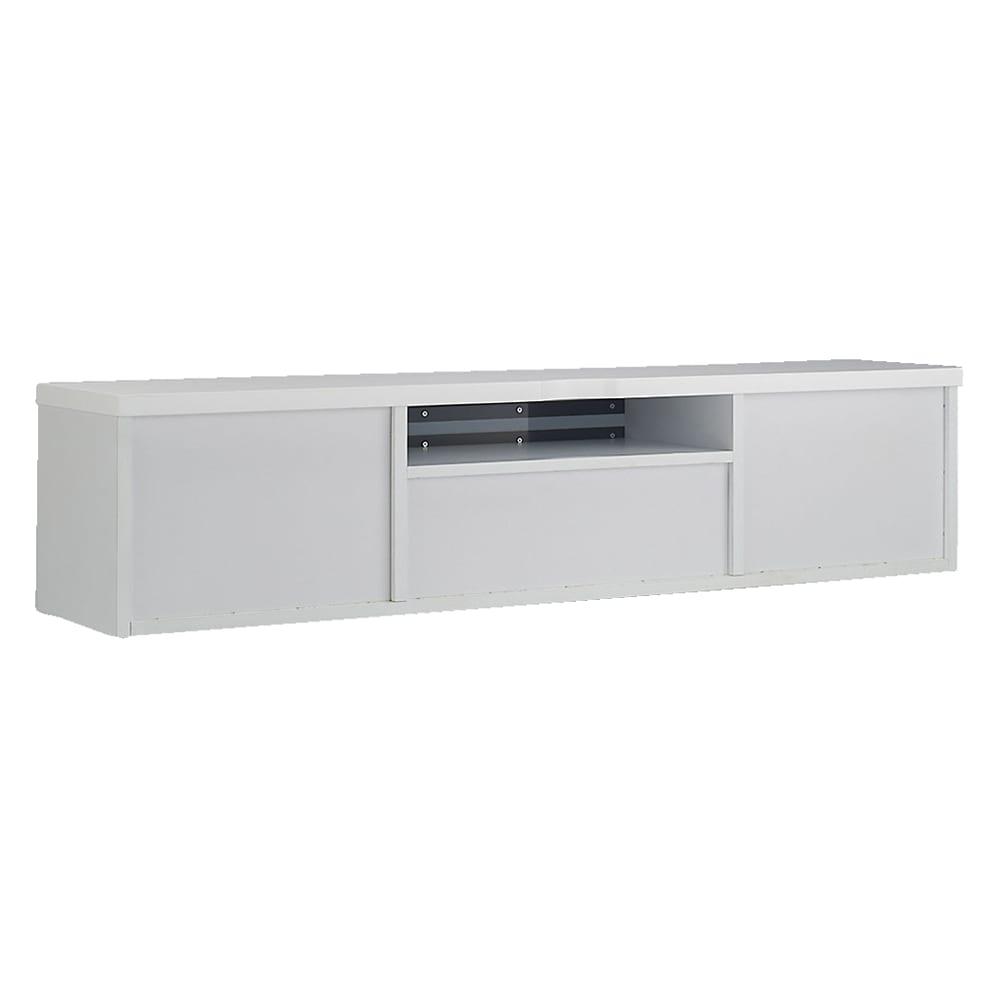 ホワイト光沢仕上げテレビ台シリーズ テレビ台 幅150高さ39cm テレビボード背面