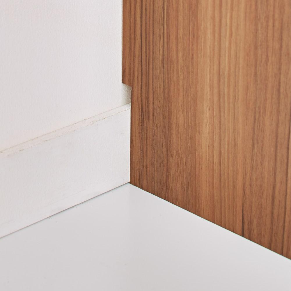 奥行35cm薄型ホームオフィス デスク横チェスト 幅45cm 壁にぴったりつけて設置できる幅木よけ加工。(高さ8奥行1cm)