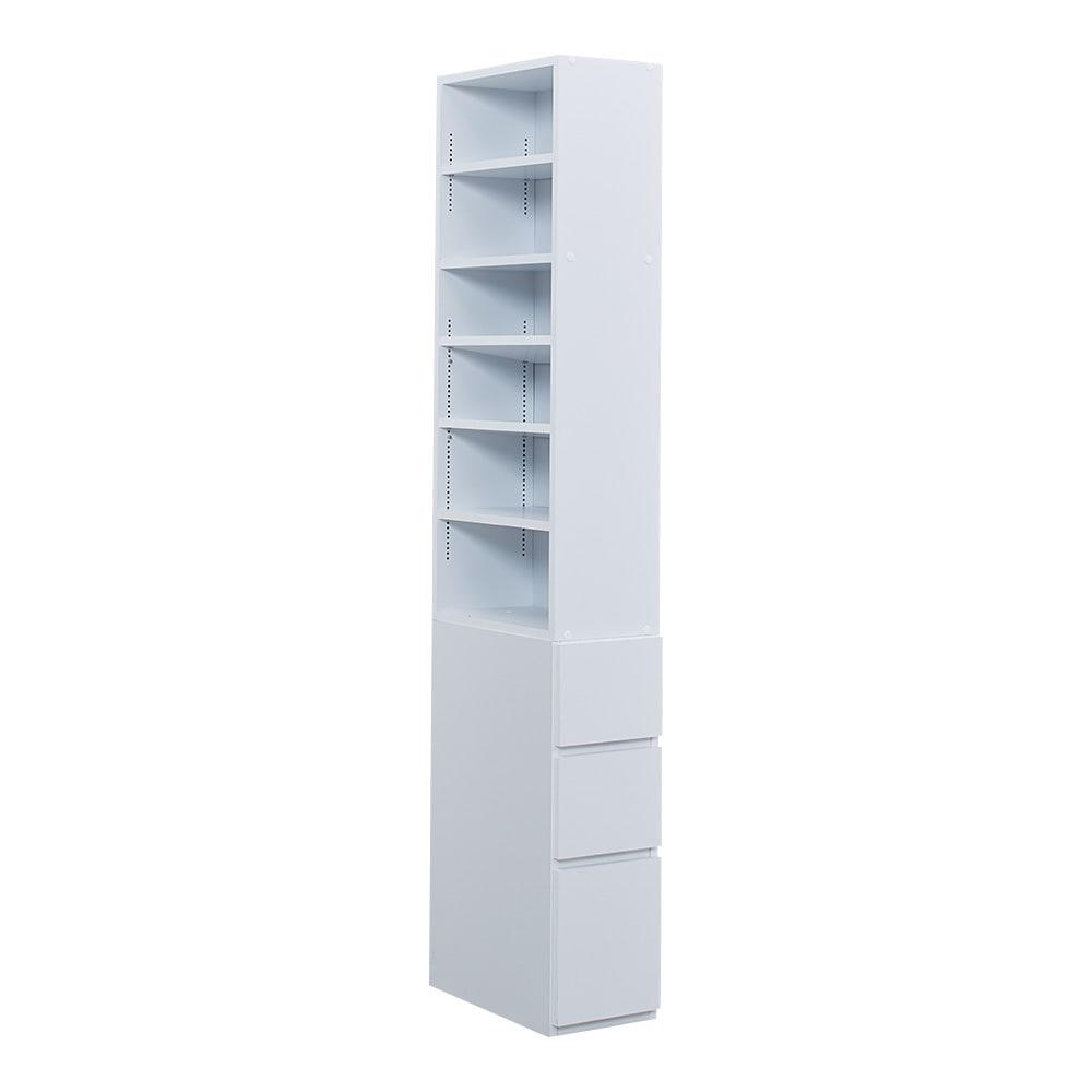 幅が選べるデスクサイドラック 幅24奥行45cm (ア)ホワイト