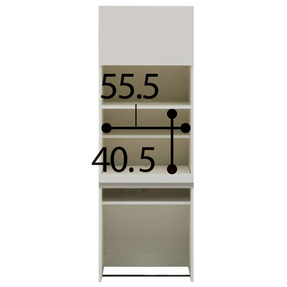 【パモウナ社製】毎日の使いやすさを考えた収納システム パソコンデスク幅60cm (ア)ホワイト ※お届けする商品です。