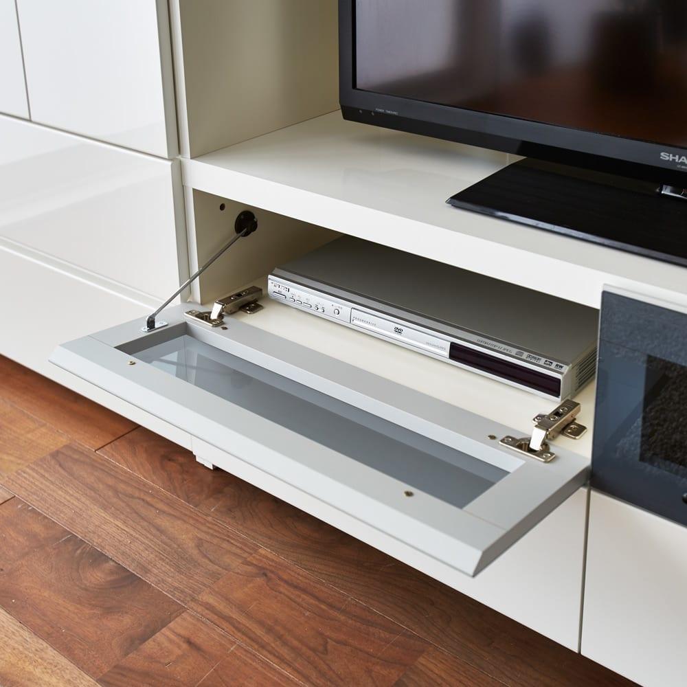 毎日の使いやすさを考えた収納システム テレビ台ロータイプ 幅120cm