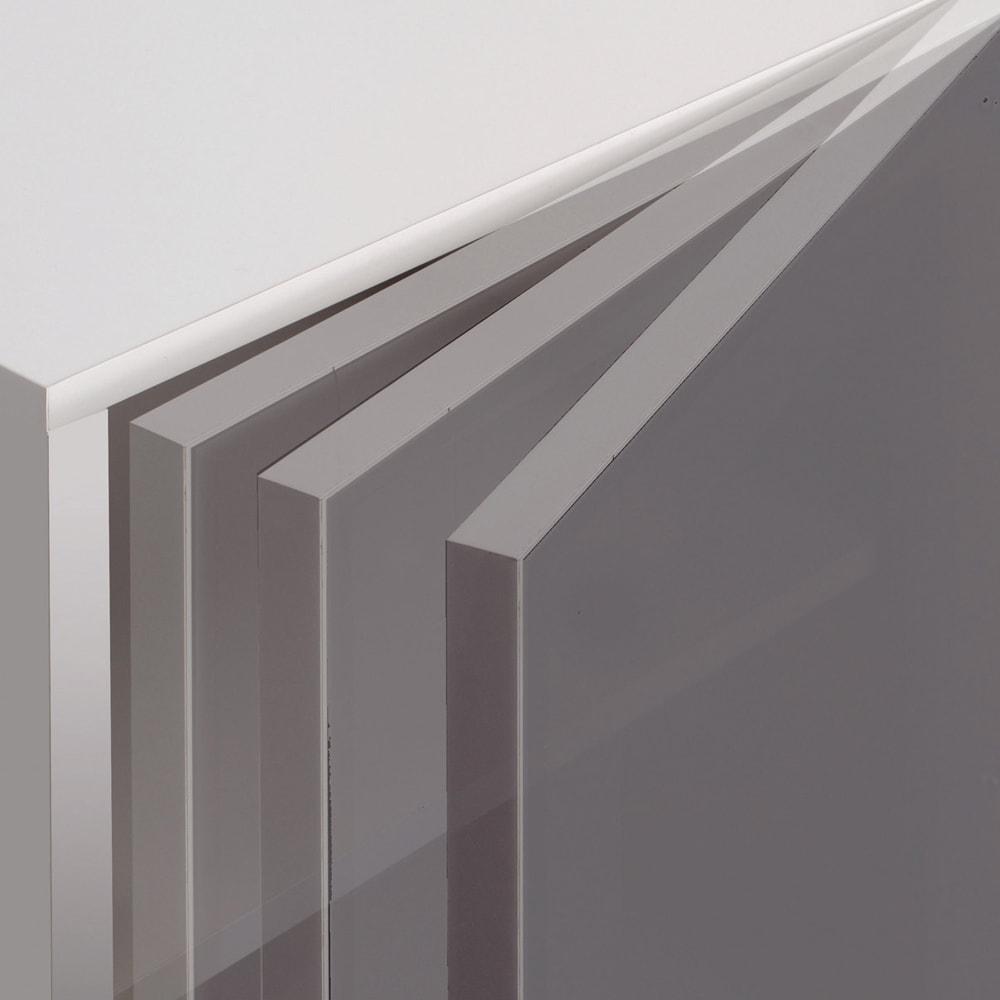 【パモウナ社製】高さサイズオーダー対応突っ張り上置き(1cm単位) 幅80cm (高さ21~89cm) 扉は毎日開け閉めするものだから静かにゆっくり閉まる仕様です。
