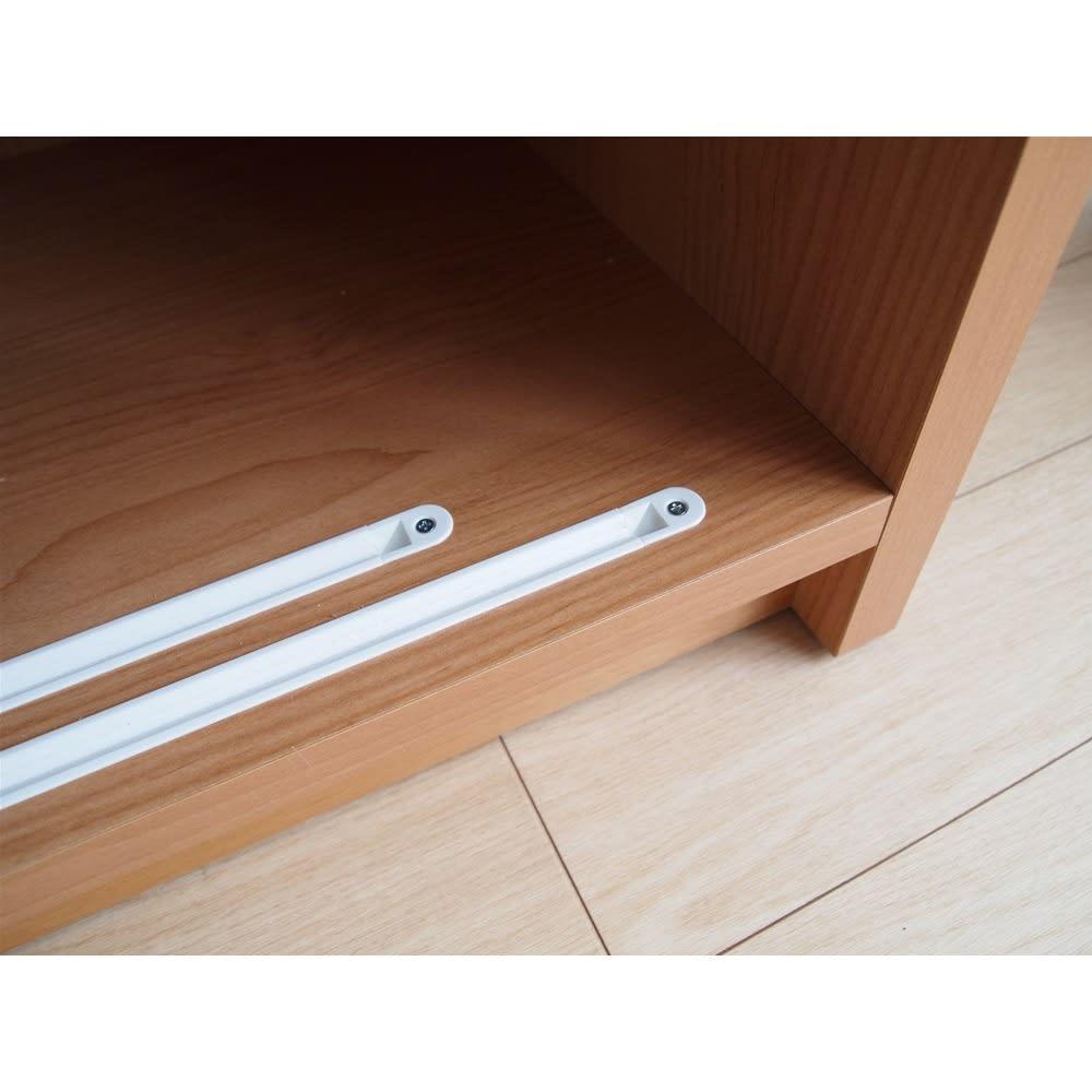 組立不要 アルダー引き戸頑丈本棚 幅75.5cm ロータイプ 戸を開閉しやすいレール。