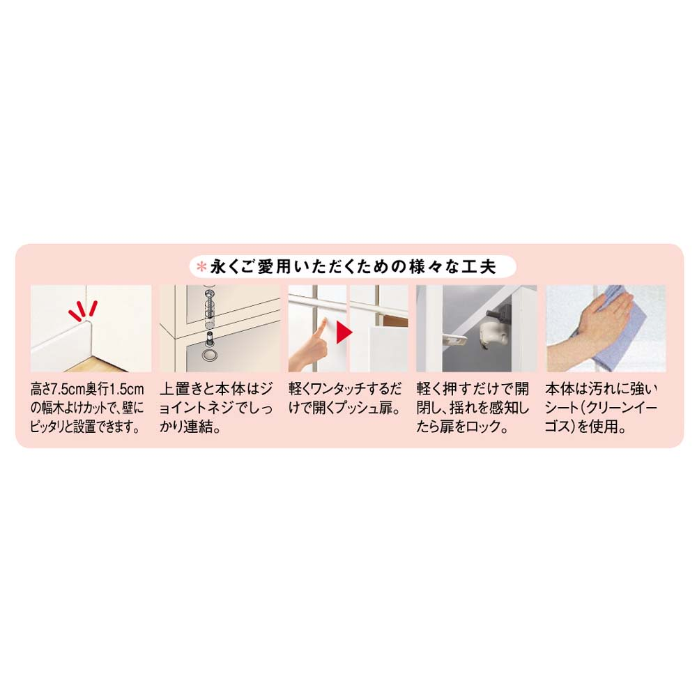工夫満載!壁面書棚(本棚)リフォームユニット 幅60奥行31高さ180cm 【POINT】通販のアイディアが詰まった工夫