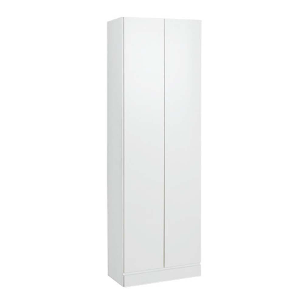 工夫満載!壁面書棚(本棚)リフォームユニット 幅80奥行44高さ180cm (イ)前面:ホワイト・本体:ホワイト ※写真は幅60cmタイプです。