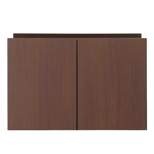 高さサイズオーダー 工夫満載!壁面書棚(本棚)リフォームユニット 上置き奥行44cm 幅60cm高さ26~90cm (エ)色見本:前面:ダークブラウン・本体:ダークブラウン ※写真は幅80cmの商品です。
