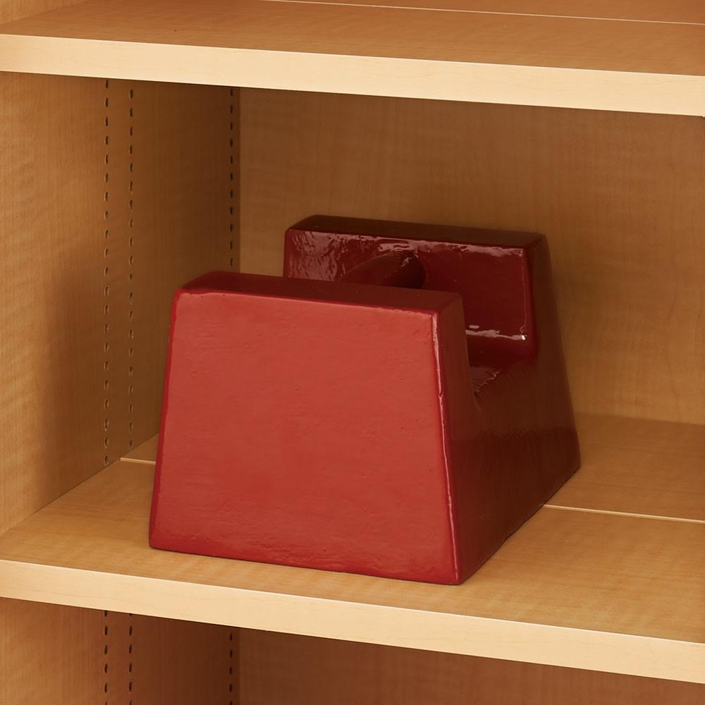 掃除機もしまえる引き戸本棚 ミドルタイプ(幅90高さ125cm) 棚板1枚当たり耐荷重約10kgの頑丈さ。