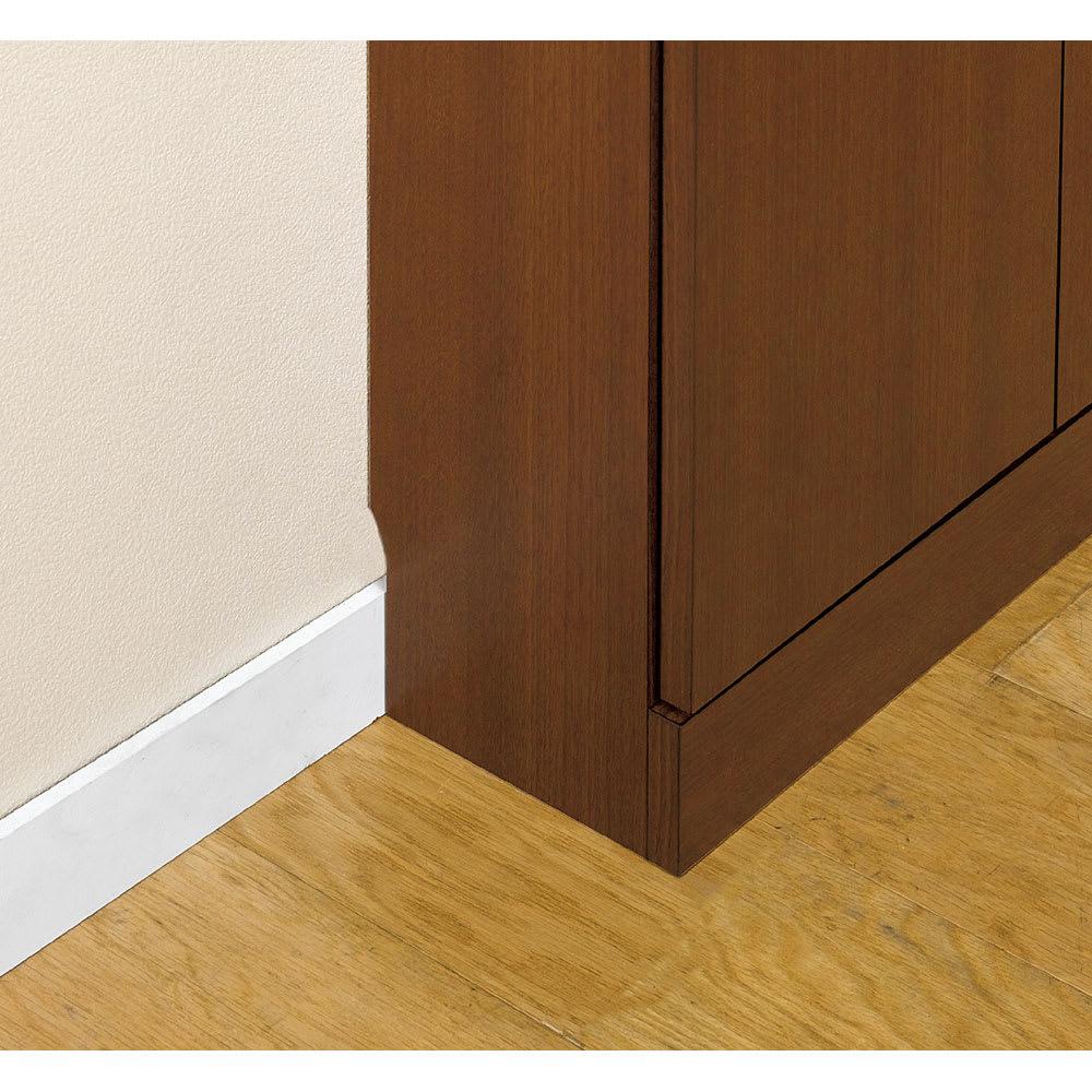 1cmピッチ薄型窓下収納庫 【幅86奥行17.5cm】 幅木対応(8×1cm)で壁にぴったり設置可能。