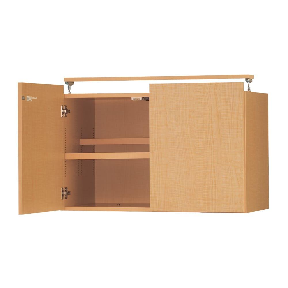 日用品もしまえる頑丈段違い書棚上置き(幅80cm) (イ)ナチュラル
