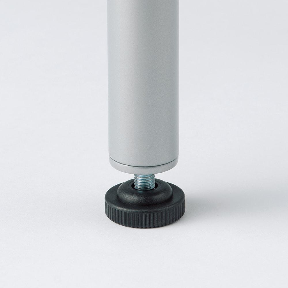 ウォークイン突っ張りハンガー 幅78~128cm・ハイタイプ(高さ218~280cm)カーテンなし 脚部は約1cmの高さ調節できるアジャスター付き。