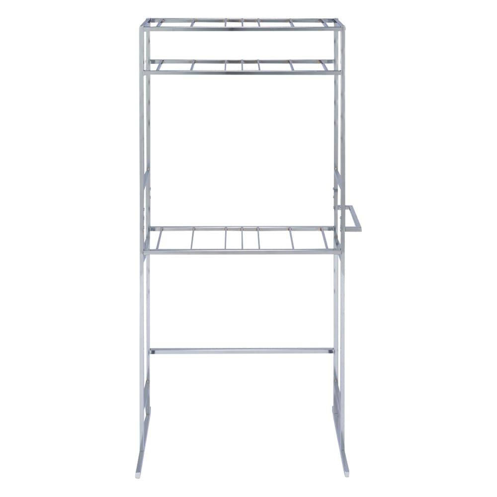 正面向きにも掛けられる薄型ディスプレイハンガー ハイタイプ(ハンガー棚3枚) 幅90高さ196cm ハンガー棚とサイドフックの取付位置は高さを10cm間隔(中央連結部付近一部5cm間隔)で32cm~194cmの範囲内で設置できます。