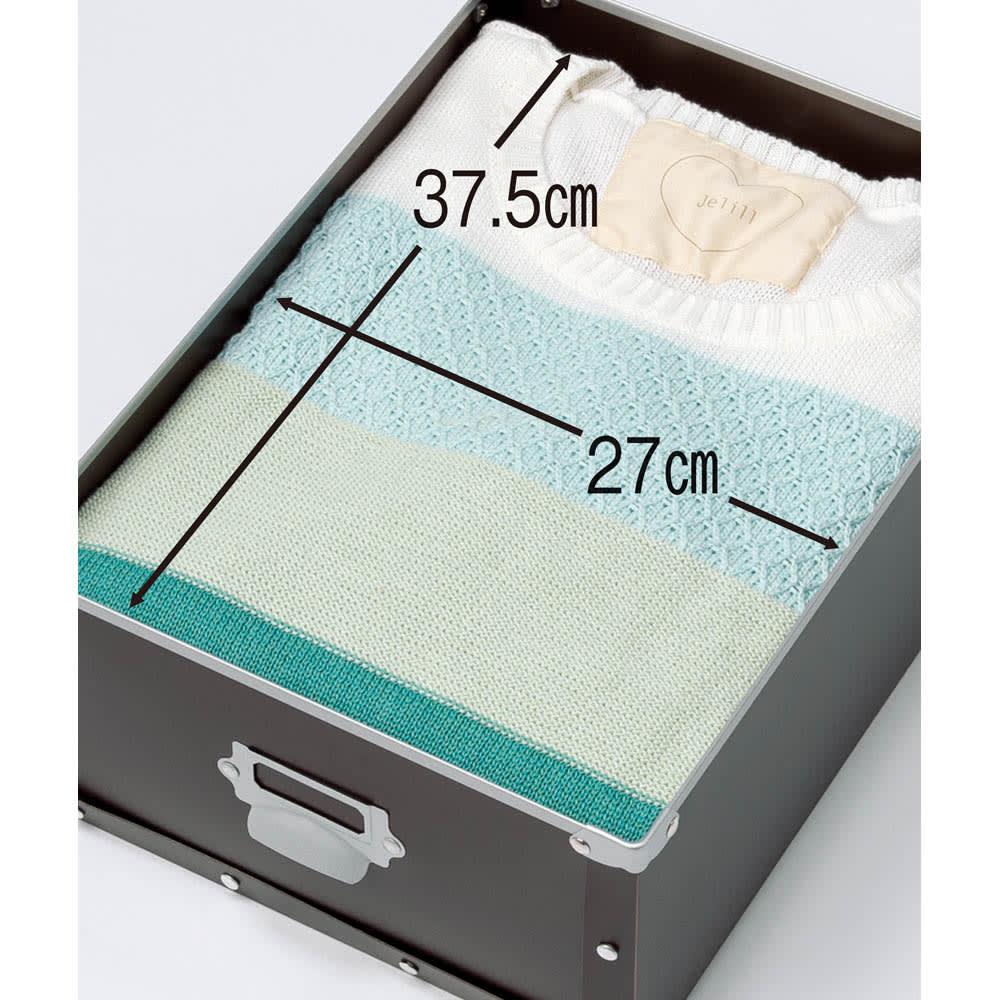 引き出し付き シンプルモダンハンガーラック 幅64cm (イ)ブラウン 引き出しは、たたむ衣類の収納に。
