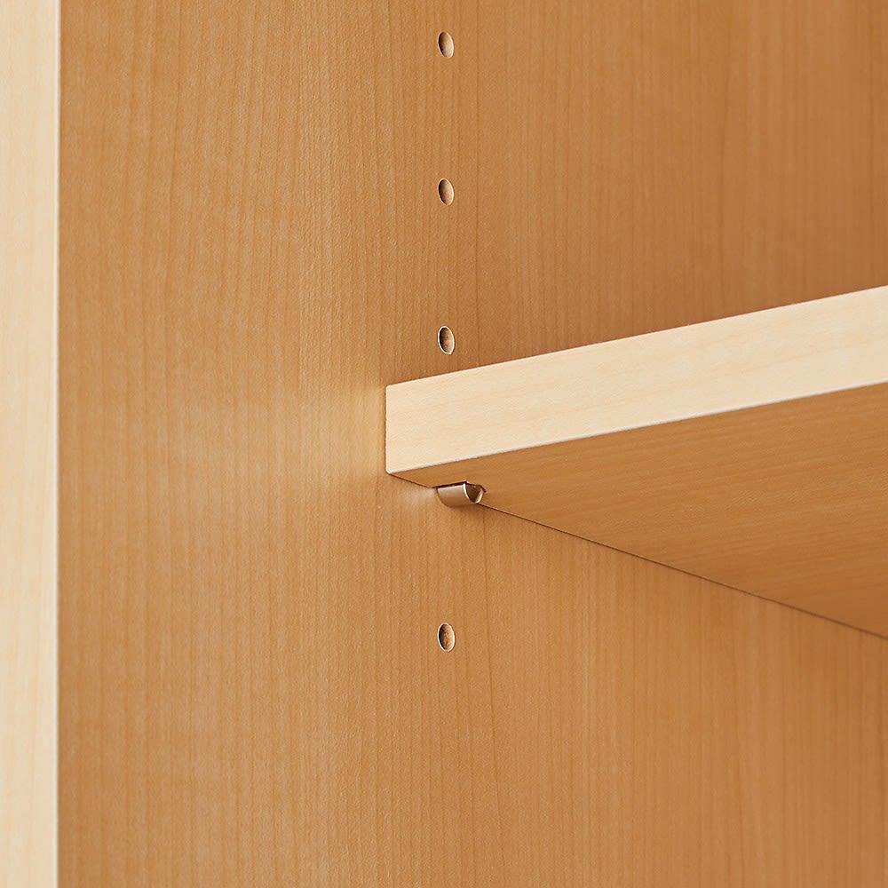 お部屋の天井構造を考慮した壁面ワードローブ 棚タイプ 幅40高さ140cm(低い梁下に) 棚板は可動できます。※真ん中の板1枚は固定棚