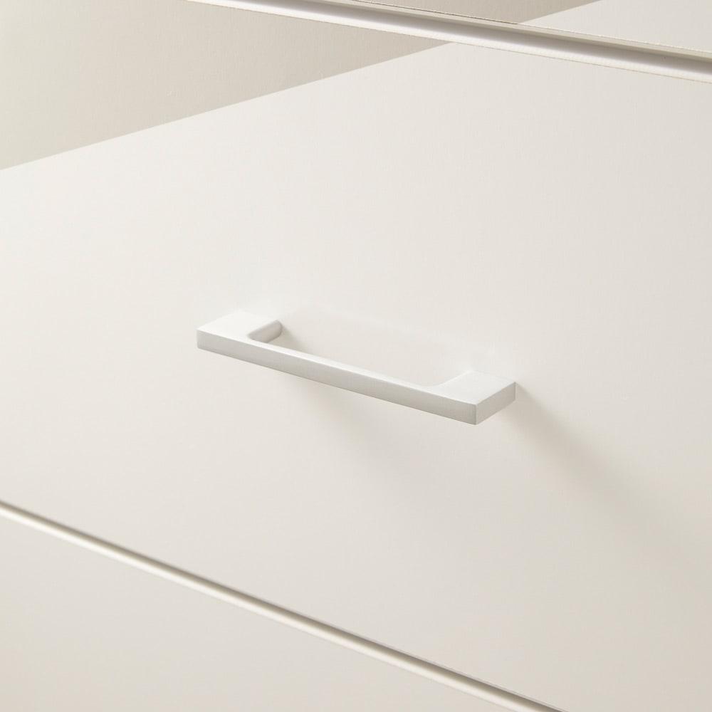 【国産・完成品】薄型 オープンワードローブ タワーチェスト 幅77.5cm (ア)ホワイト