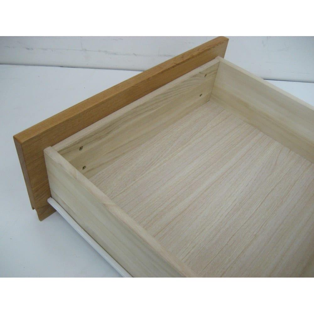 ウォルナット天然木ギャラリー収納シリーズ 幅140cmボード 引き出しは丈夫な箱組仕様。