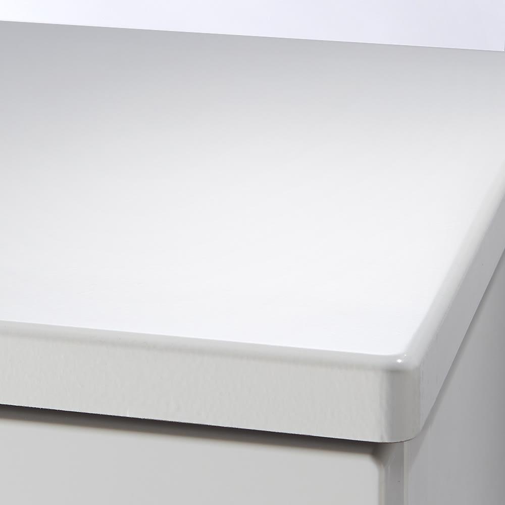 Fits フィッツプラスプレミアム 幅65cm・3段 天板はMDF化粧板(セラミックホワイト)