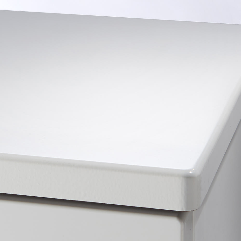 Fits フィッツプラスプレミアム 幅75cm 4段[FP7504 テンマ] 天板はMDF化粧板(セラミックホワイト)