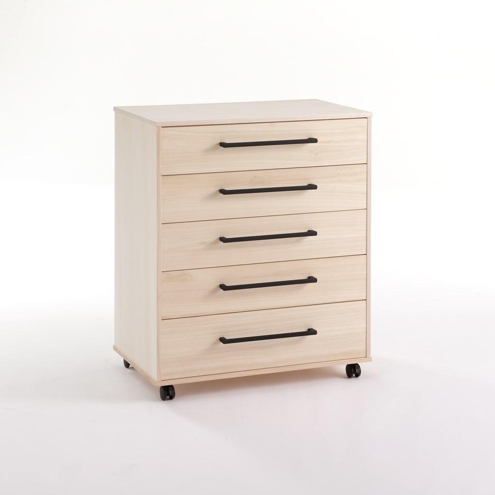 伝統の桐収納で取り出しやすい総桐現代仕様チェスト 幅75cm・5段 高さ89cm