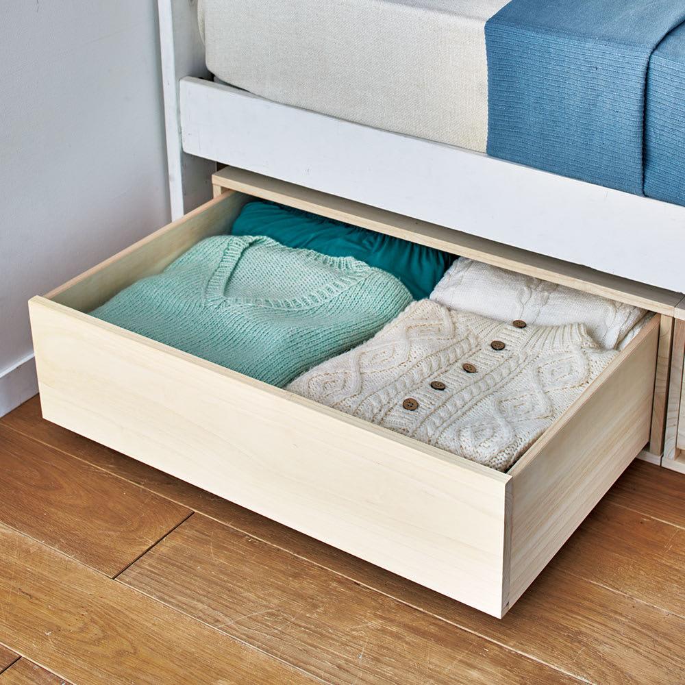 【日本製】総桐押入れ布団台収納 幅44cm 調湿性の高い桐は、衣類やタオルの収納にぴったり。 ※写真は幅75cmタイプです。