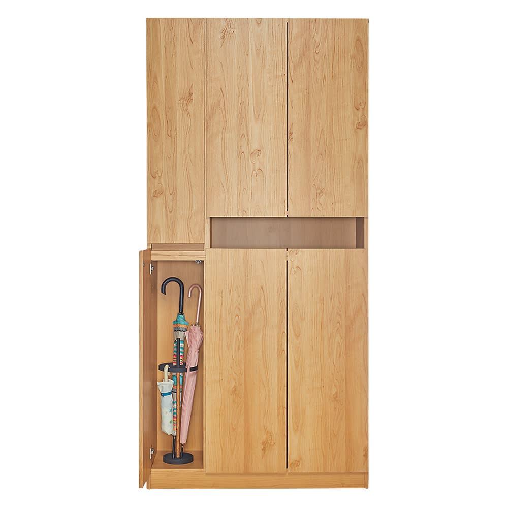 天然木調シューズボックス ハイ 幅99高さ210cm