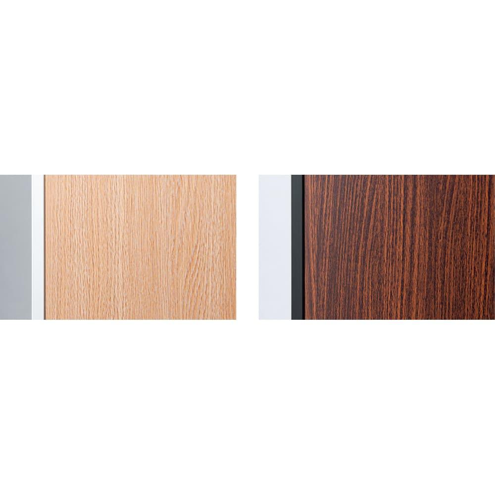空間に美しく調和する伸縮自在木目調シューズラック 突っ張り式11段ワイド 左から(イ)ナチュラル (ア)ダークブラウン