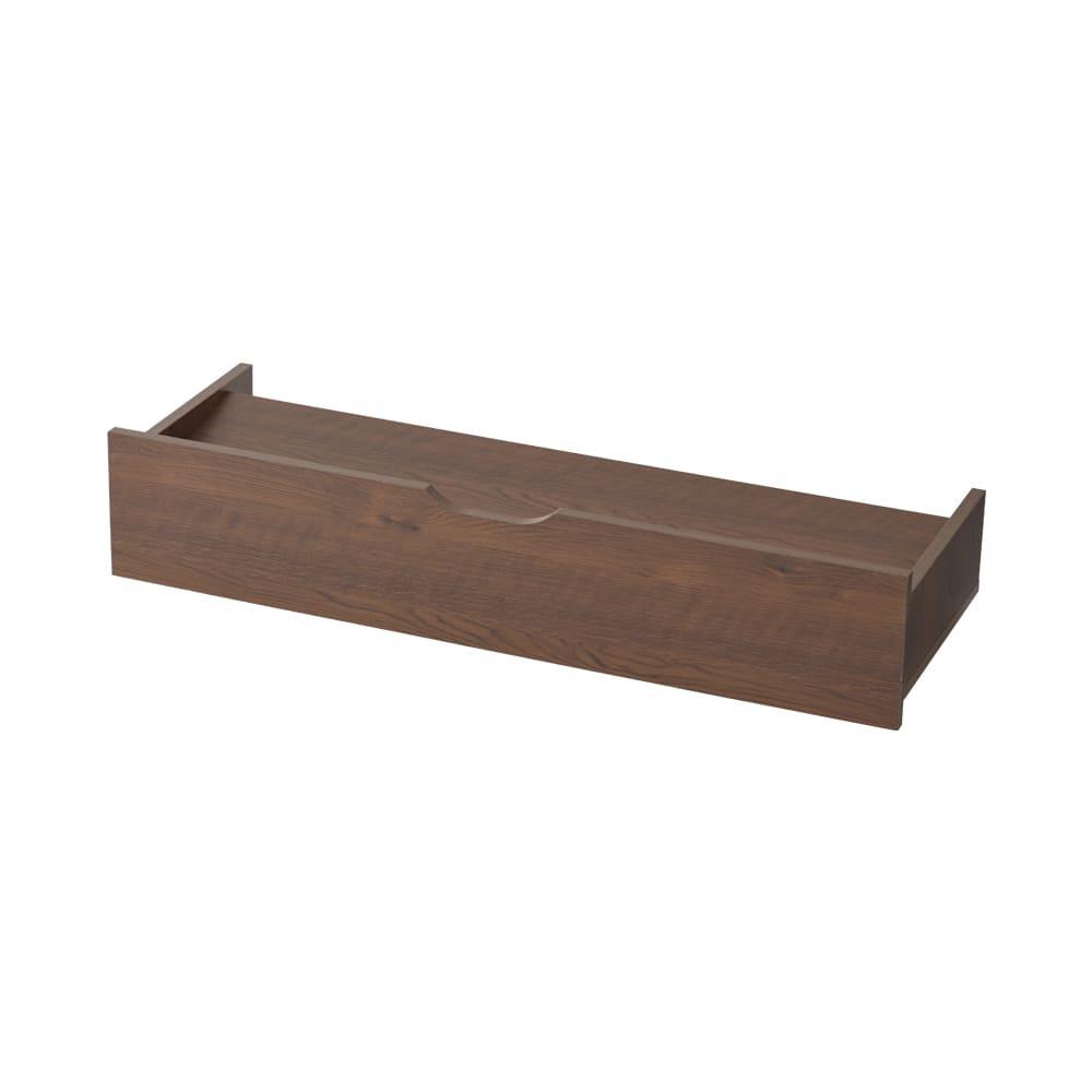 【日本製】下駄箱下木製シューズワゴン ハイ(高さ30cm) 幅100cm (ア)ダークブラウン