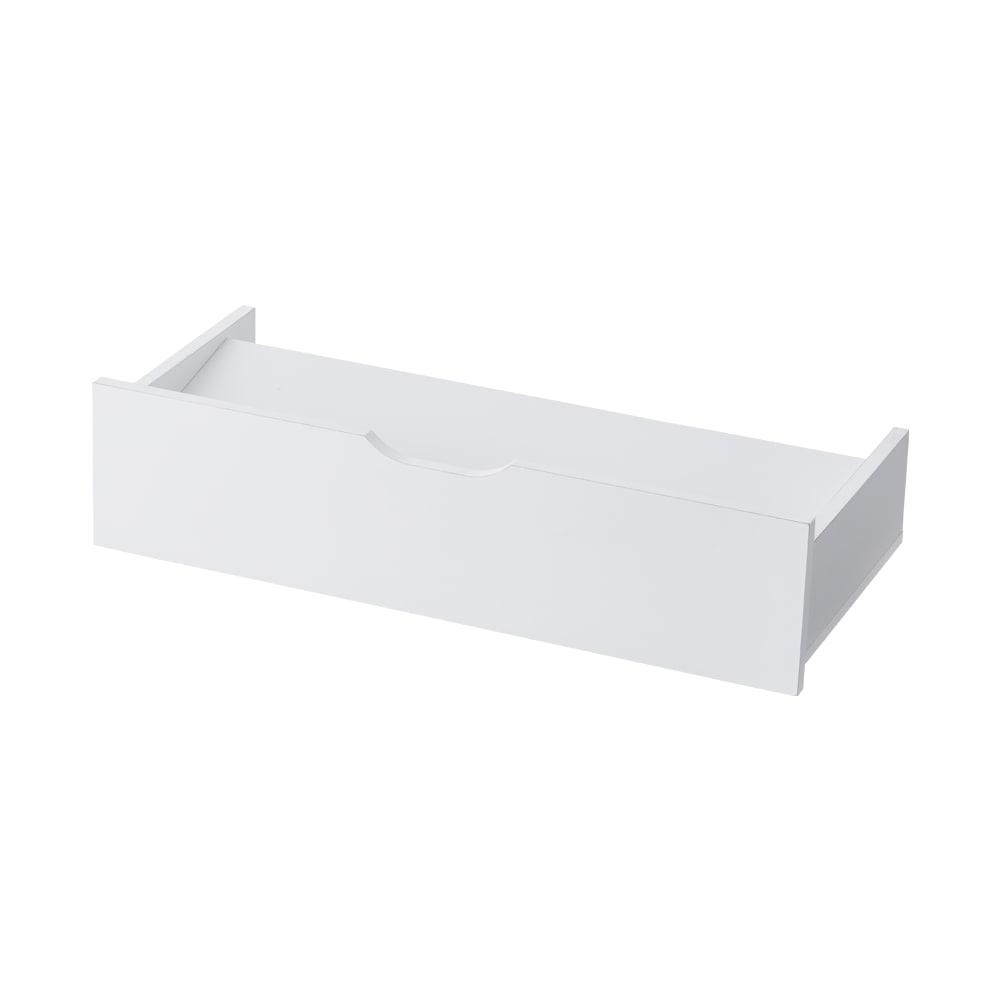 【日本製】下駄箱下木製シューズワゴン ハイ(高さ30cm) 幅100cm (イ)ホワイト