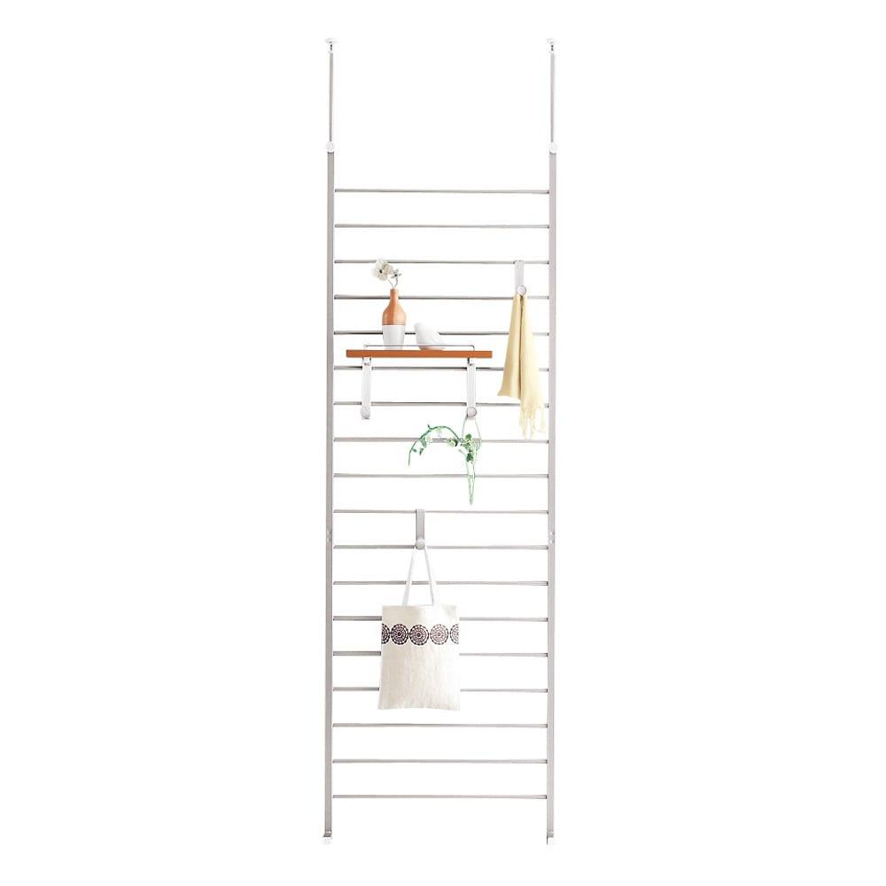 突っ張りブティックハンガー 幅65cm (イ)ナチュラル