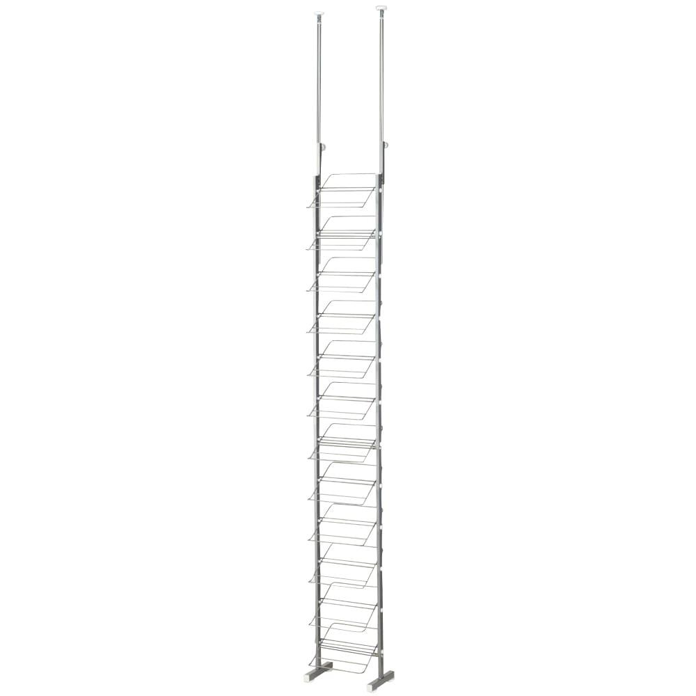 突っ張りシューズラック 幅29cm スッキリとしたデザインですき間を有効活用できます。