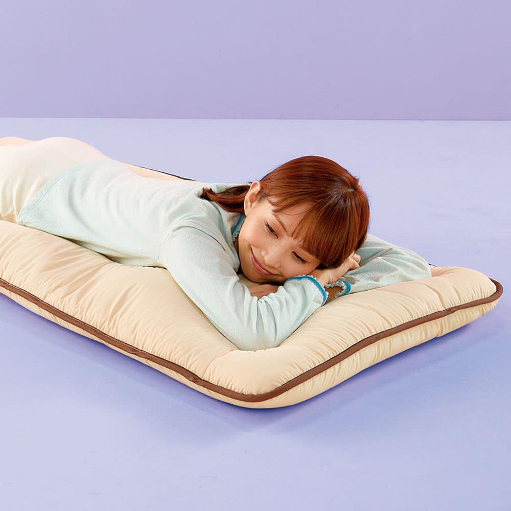 ダニの入れない素材で作ったごろ寝マット