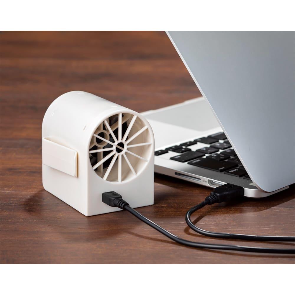 充電式コードレスベルトファン2個組 デスクファンとしても便利