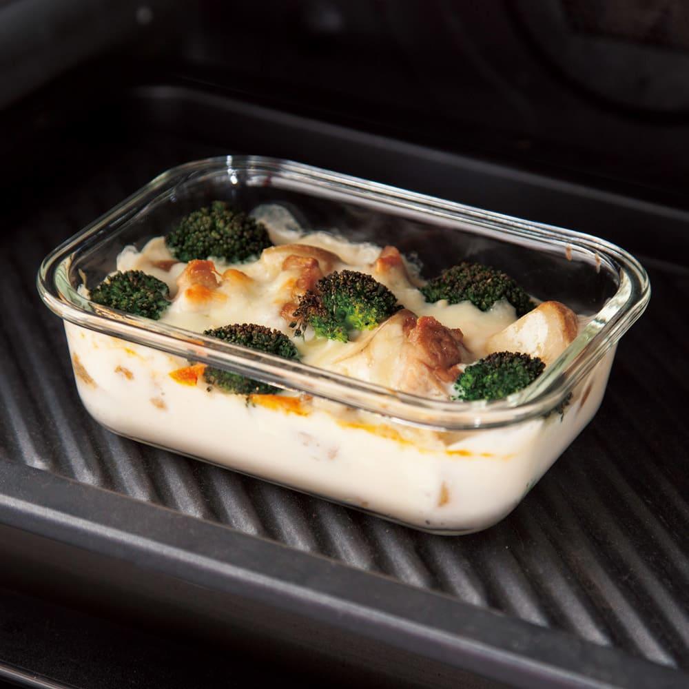 ガラス保存容器 6点セット オーブン調理も可能。