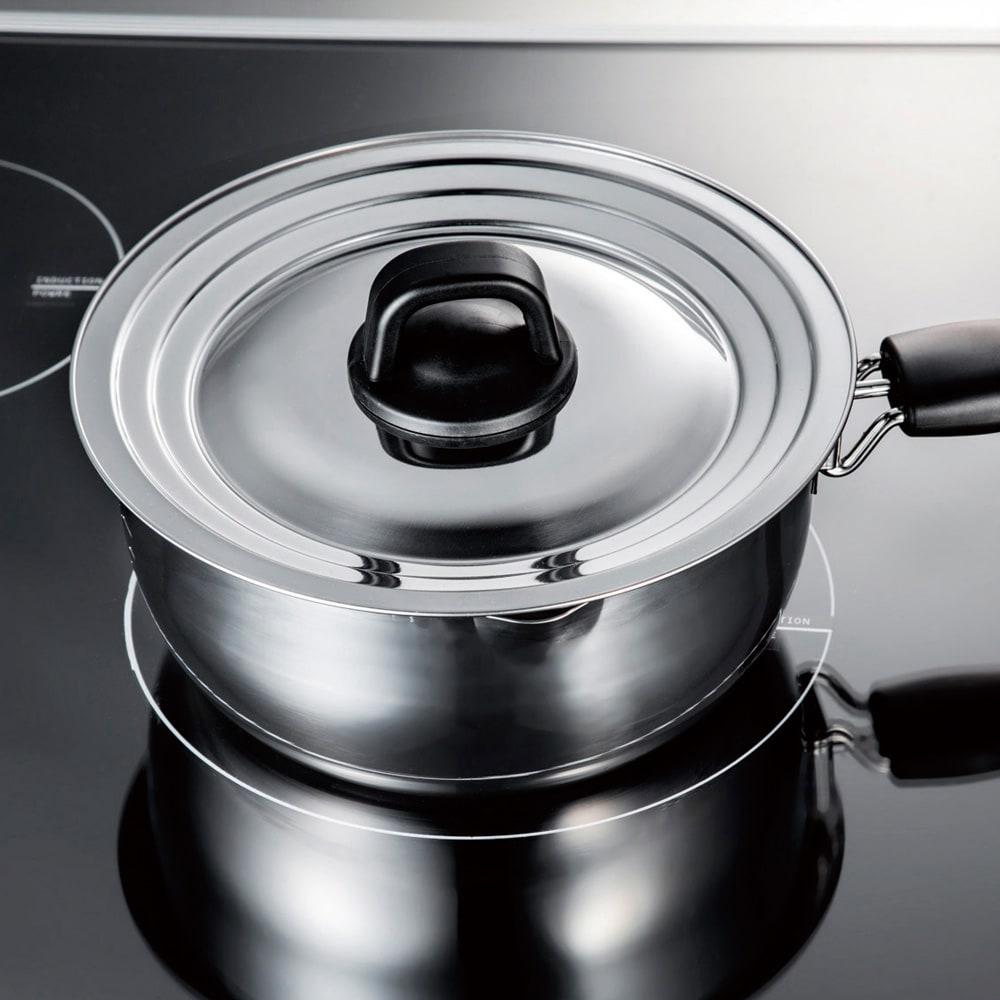メイド・イン・ツバメ 国産ゆきひら鍋 5点セット すべての鍋に合う兼用蓋。