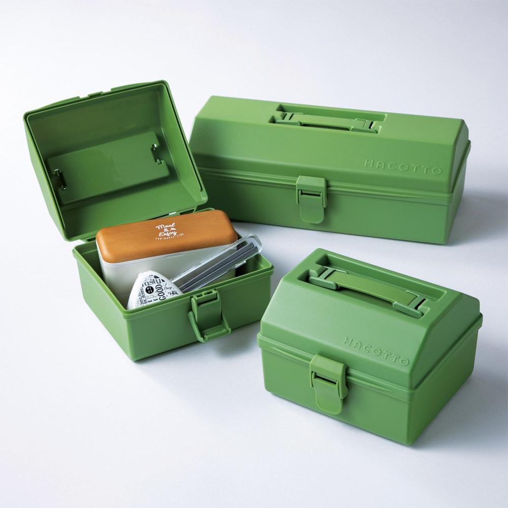ハコット収納ボックス同色3個セット (ウ)グリーン