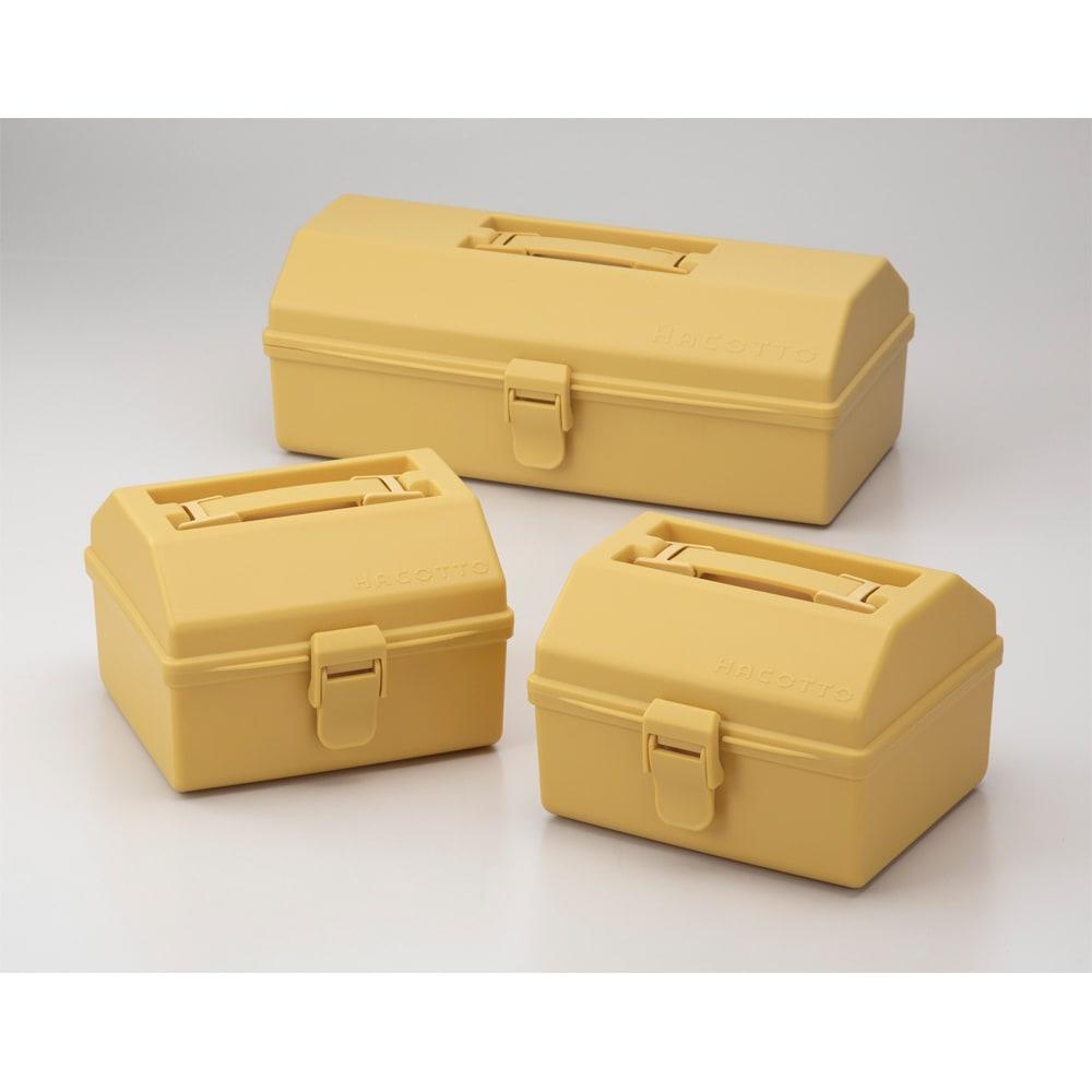 ハコット収納ボックス同色3個セット (エ)イエロー