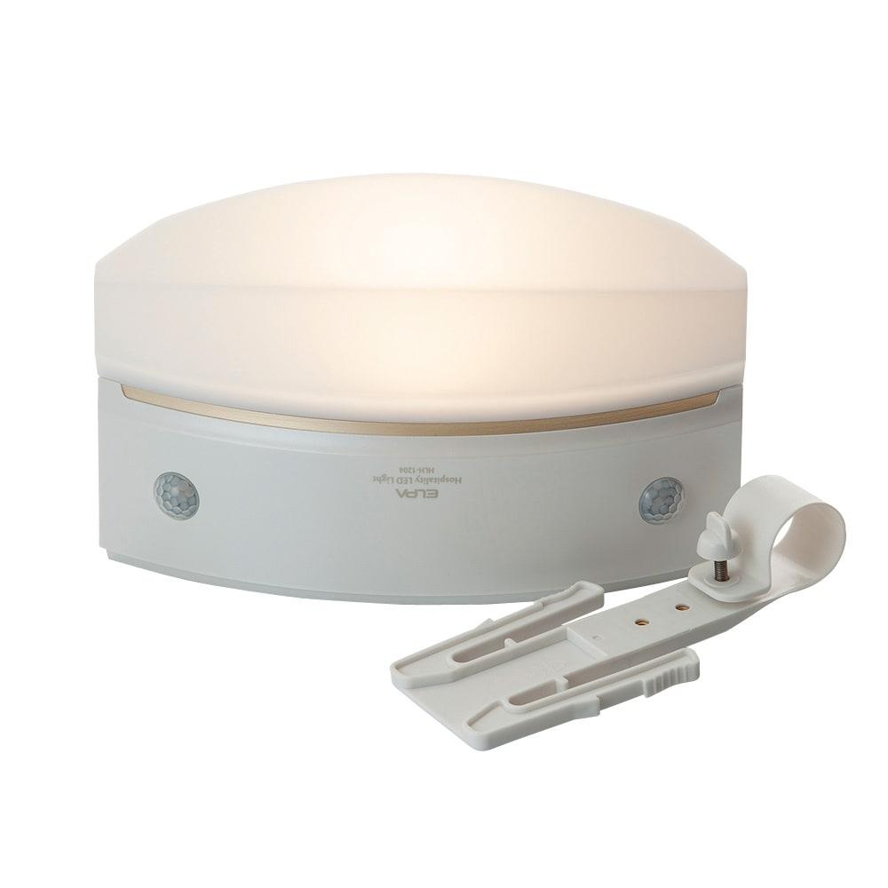 人感センサー付きもてなしライト フックを外して置いて使える。 (ウ)パールホワイト(薄型)