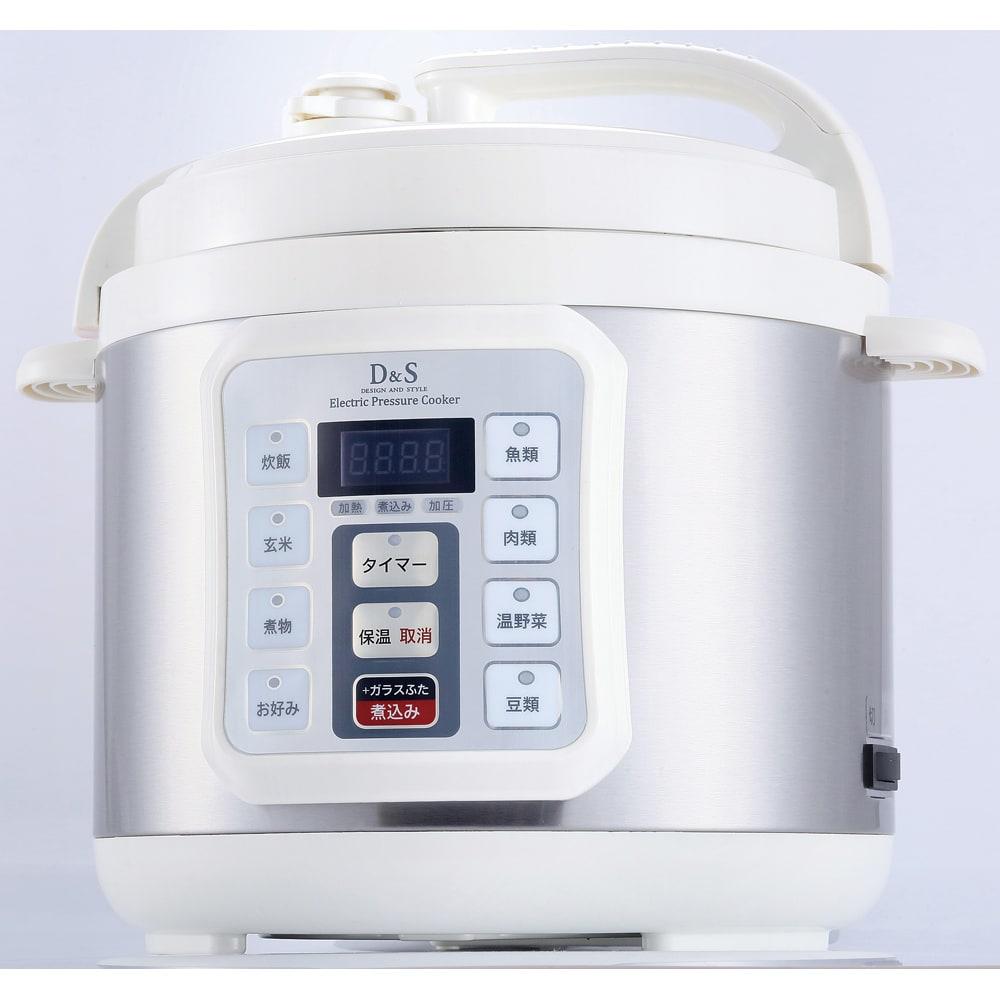 マイコン式電気圧力なべ 容量4.0L (ア)ホワイト