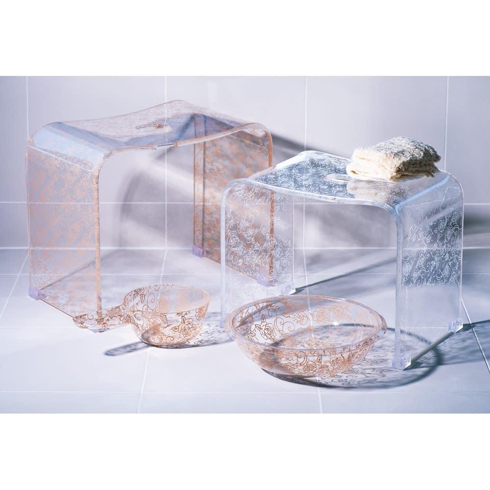 クリアローズ バスシリーズ バスチェアLL&洗面器&手桶 771412