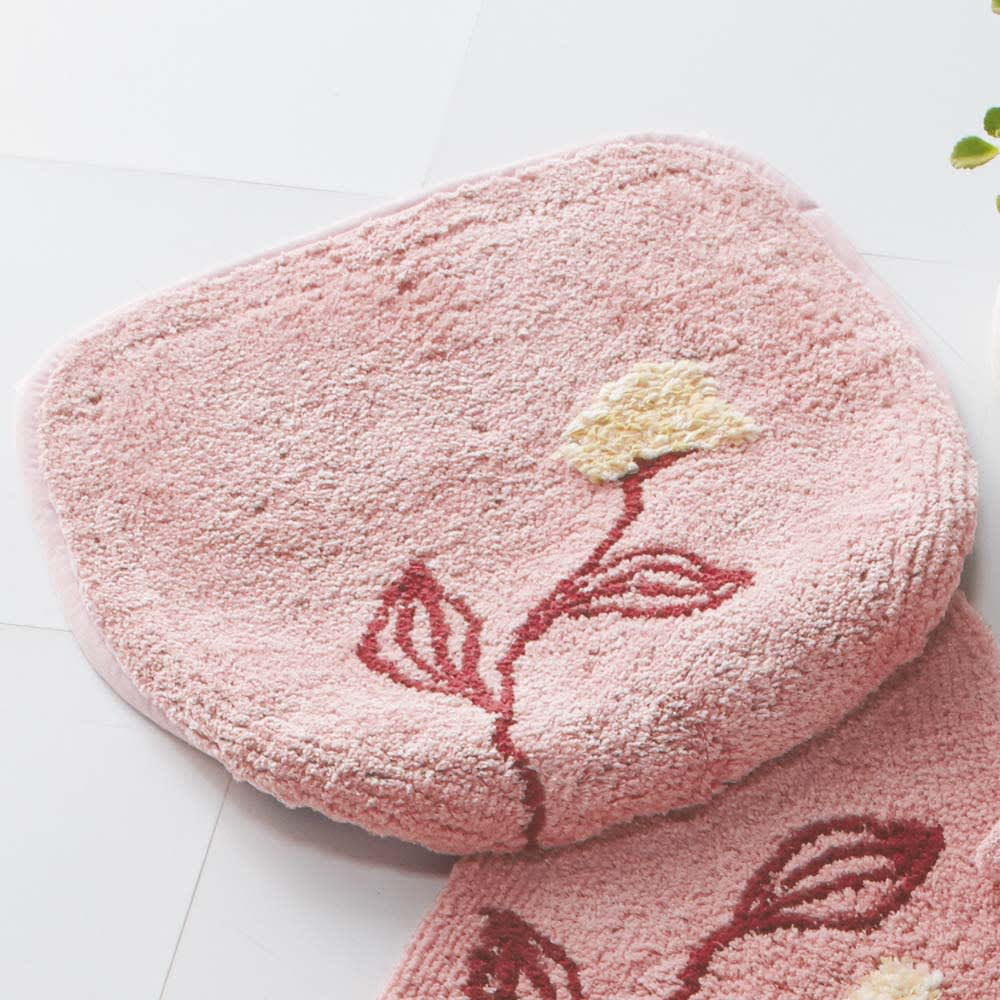 シビラトイレタリー〈フローレス〉 フタカバー単品 (ウ)ピンク系