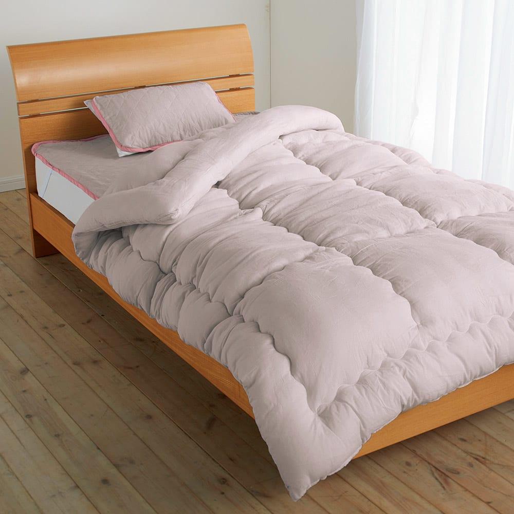 セミダブル3点セット(テンセルTM&ガーゼ寝具シリーズ お得な掛け敷きセット(ピローパッド付き)) 773715