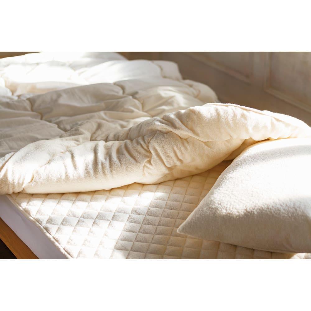 ダブル4点セット(今治製タオルの寝具シリーズ お得な掛け敷きセット(枕カバー付き)) 773729