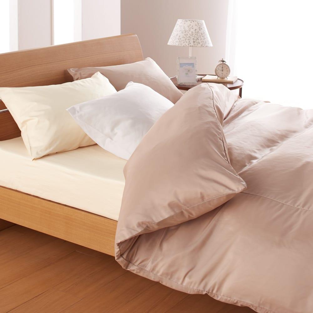 ミクロガード(R)プレミアムシーツ&カバーシリーズ 枕カバー(1枚) ※お届けは枕カバー1枚です。枕カバーの色…手前から(ウ)ホワイト (エ)ベージュ (オ)モカブラウン