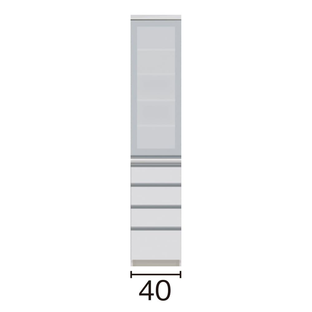 サイズが豊富な高機能シリーズ 食器棚引き出し 幅40奥行45高さ198cm/パモウナ VZ-S400KL VZ-S400KR