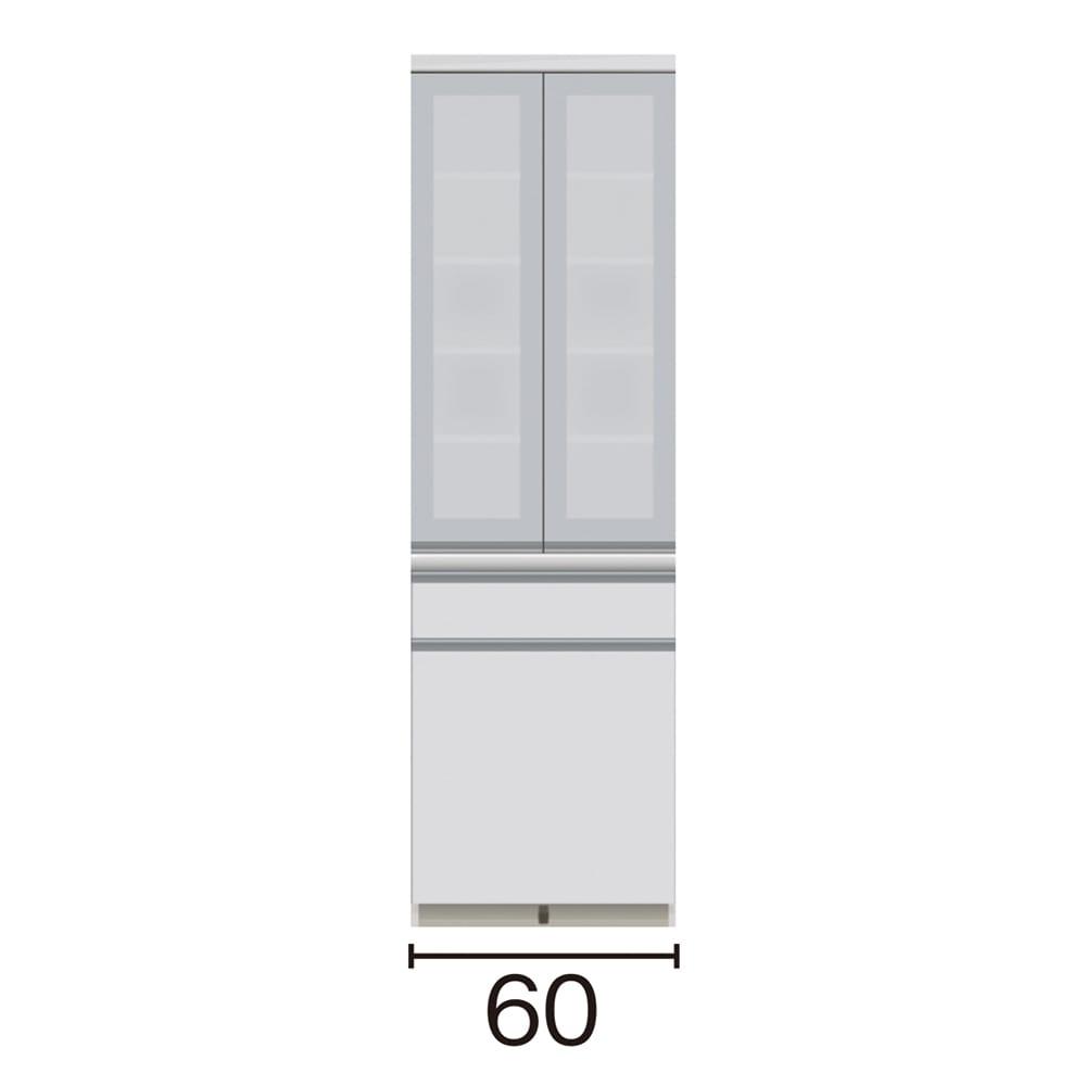サイズが豊富な高機能シリーズ 食器棚深引き出し 幅60奥行45高さ198cm/パモウナ VZ-S601K