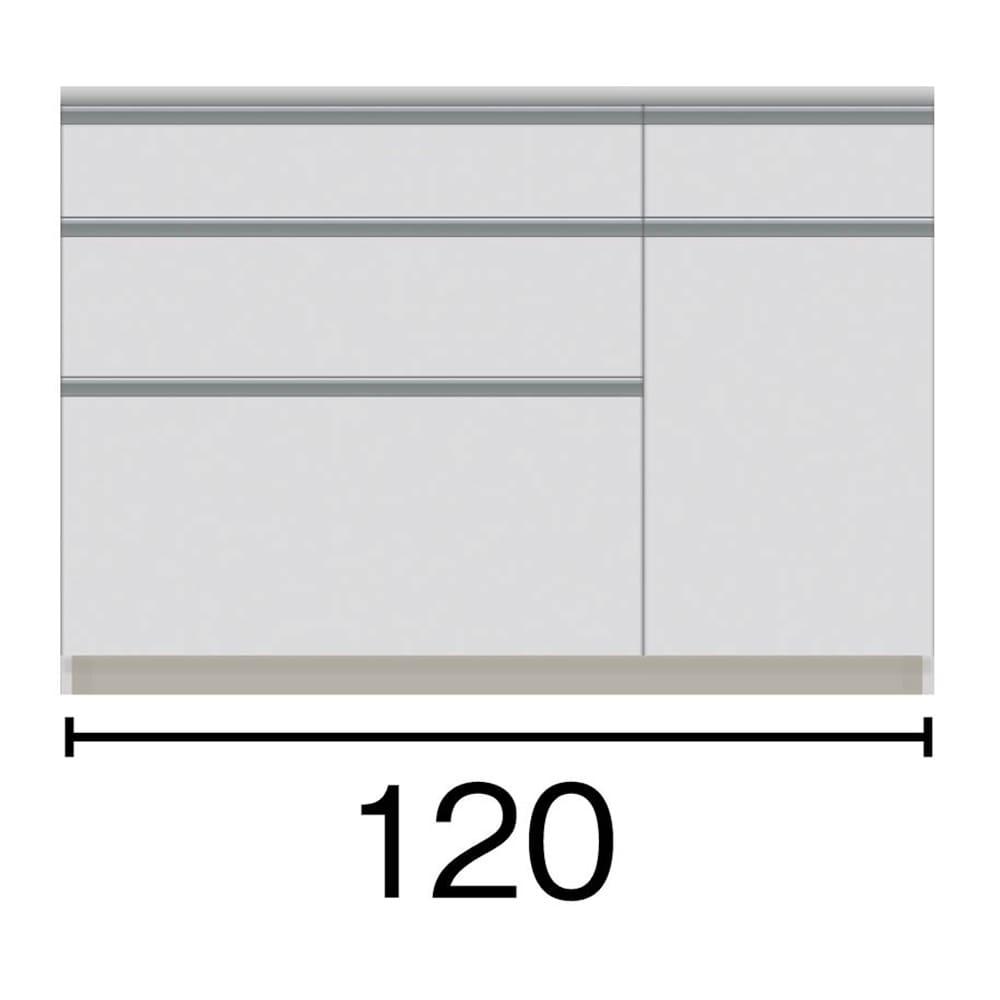 サイズが豊富な高機能シリーズ カウンター引き出し 幅120奥行50高さ84.8cm 777971