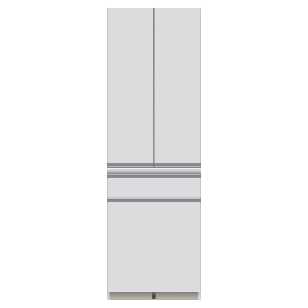 サイズが豊富な高機能シリーズ 板扉タイプ 食器棚深引き出し 幅60奥行45高さ187cm/パモウナ DZ-S601K
